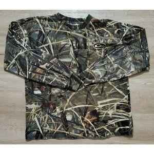 Drake Mens Advantage Max-4 HD Camo T-Shirt Medium